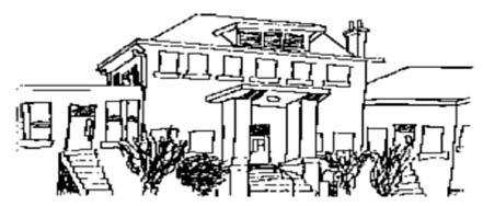 Black and White sketch of Avondale building